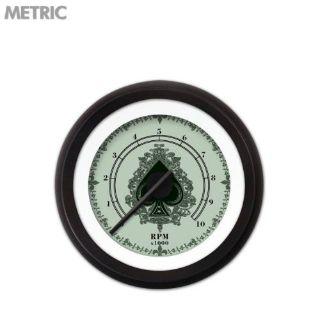 Purchase Tachometer Gauge - Spade Series, Black Modern Needles, Black Trim Rings mac motorcycle in Portland, Oregon, United States, for US $201.26
