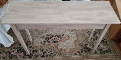 Antique distressed ivory table