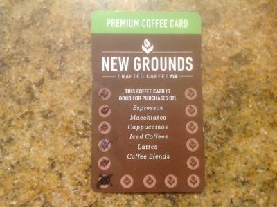 Princess Cruises New Grounds Coffee Card--LAST CHANCE
