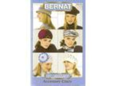 (5478) Knit/Crochet- BERNAT Satin ACCESSORY CRAZY Hats