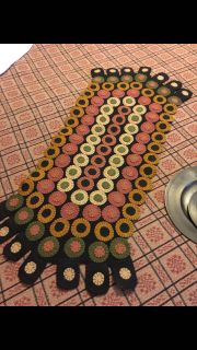 Cute primitive penny table runner