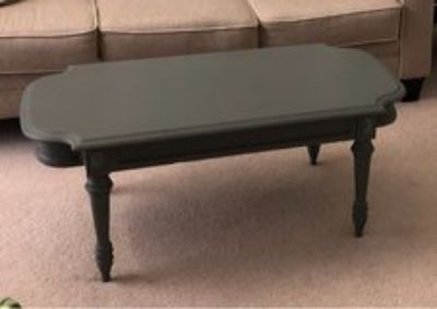 Refinished antique coffee table - gray