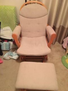Glider and Foot Stool