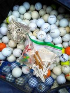 350 assorted top name golf balls