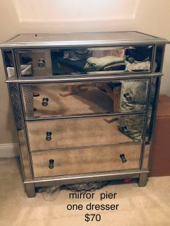 pier one mirror dresser and side table CP