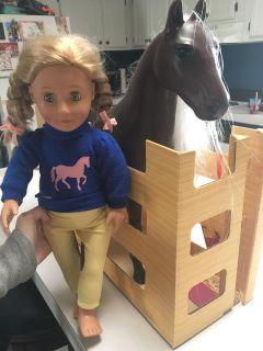 Target brand 18 inch doll w/ horse