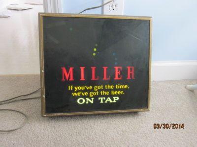 Miller Beer electric sign