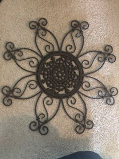 Wrought iron sunflower hanging decoration $8