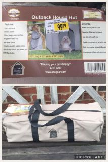 NEW Outback Hound Hut/Dog Crate, asking $35 (cost $100) **READ PICK-UP DETAILS BELOW