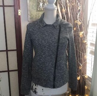 Knit Moto Stretched Knit Sweater