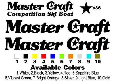 """Purchase Classic Stars & Stripes MasterCraft Decal Set 46.25"""" Long motorcycle in Amity, Oregon, United States, for US $71.95"""