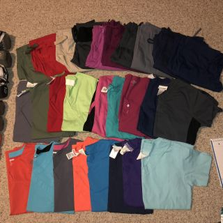 S and XS Scrub Tops and Bottoms