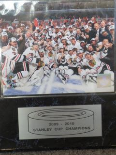Chicago Blackhawks 2009-2010 Stanley Cup Plaque
