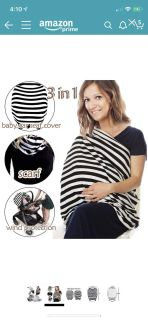NEW Enovoe Stretching Breastfeeding, Nursing, Stroller, Shopping Cart, High Chair Cover with matching hat & storage bag ($19.99 Retail) $10