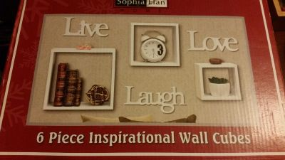 New 6 pc Inspirational wall cubes $6
