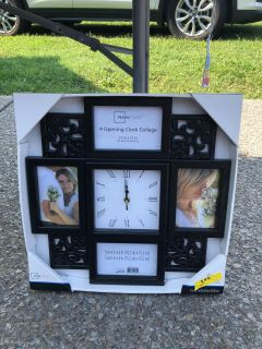 Clock and picture frame