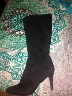 Size 9, black knee high boots