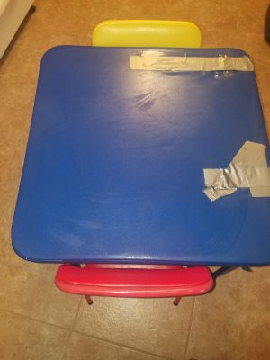 Child size card table and two chairs