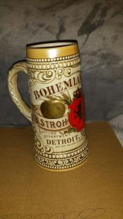 Bohemian B. Stroh Brewing Co. Mug number on bottom is 122293
