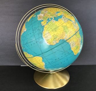 Vintage World Globe 12 Rand McNally