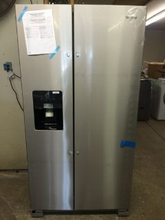 Whirlpool 25cu.ft Side by Side Refrigerator in Stainless Steel