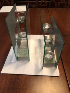 Set of Mirrored candle holders