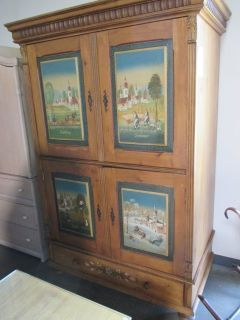 Interesting Armoire with the Four Seasons