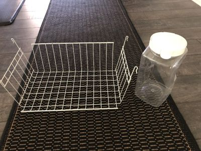 Seal tight snapware large container and shelf to use in kitchen or laundry (attaches to existing shelf without tools)