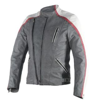 Sell Dainese Ming Mens Leather Motorcycle Jacket Gray/White/Burgundy motorcycle in Holland, Michigan, United States, for US $749.95