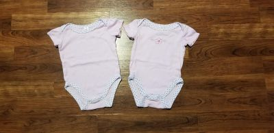 6-9 months onesies $3 for both