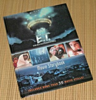 Rare Vintage 2002 E.T. The ExtraTerrestrial 20th Anniversary Movie Story Book Hard Cover 1sr Edi...