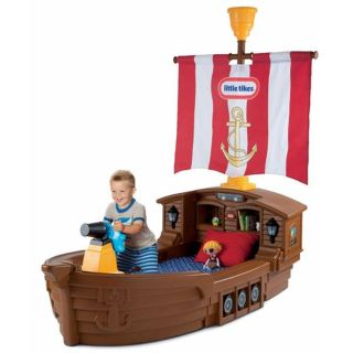 New Little Tikes Pirate Ship Toddler Bed