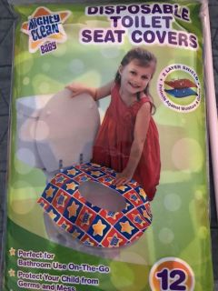 Unopened disposable potty seat covers