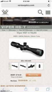 For Sale: Vortex Viper HST
