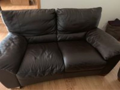 Leather sofa/loveseat