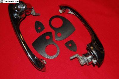 1964-1967 Door handle set, OEM, Good Condition!