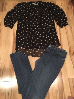Limited skinny jeans & Lauren Conrad tunic top