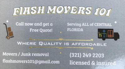FLASH MOVERS 101 (Furniture mover / Junk Removal)