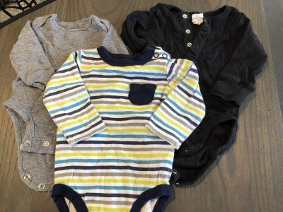 Lot of 3 long sleeve onesies 3 month size