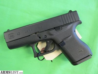 For Sale: Glock 43 9mm single stack #6365