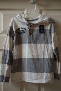 Boys Children's Place Hooded Henley Shirt Size S (5/6)