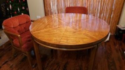 Pecan Wood Table with 4 chairs