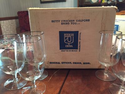 Riekes Crisa handblown crystal wine glasses or iced tea