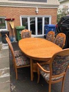1980 s oak table