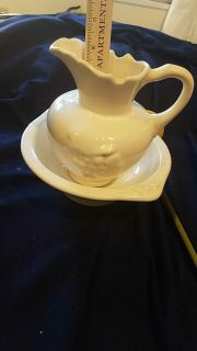 6in pitcher and Bowl excellent condition $8