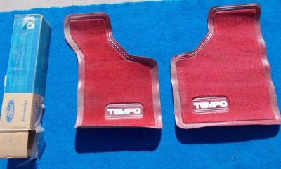 Find FORD TEMPO NOS FOMOCO Front Floor Mat Original FOMOCO E43Z 6113086 A RED motorcycle in Great Bend, Kansas, United States, for US $29.99