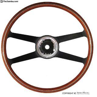 VDM Steering Wheel, Wood, 911/912 (420mm)