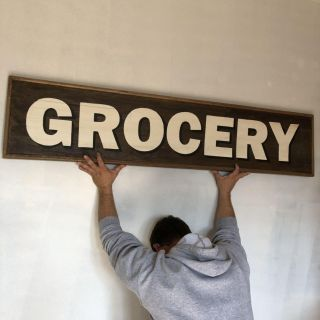 NEW barn wood heavy farmhouse decor sign large- measures 5 feet long- price negotiable for quick sale