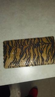 Hard shell leopard wallet