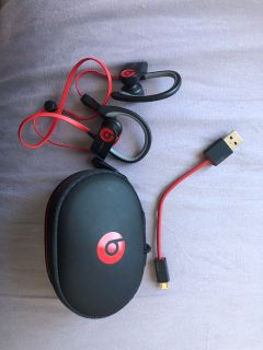 Powerbeats. Black and red.